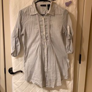 Light weight sheer gray New York and co Blouse